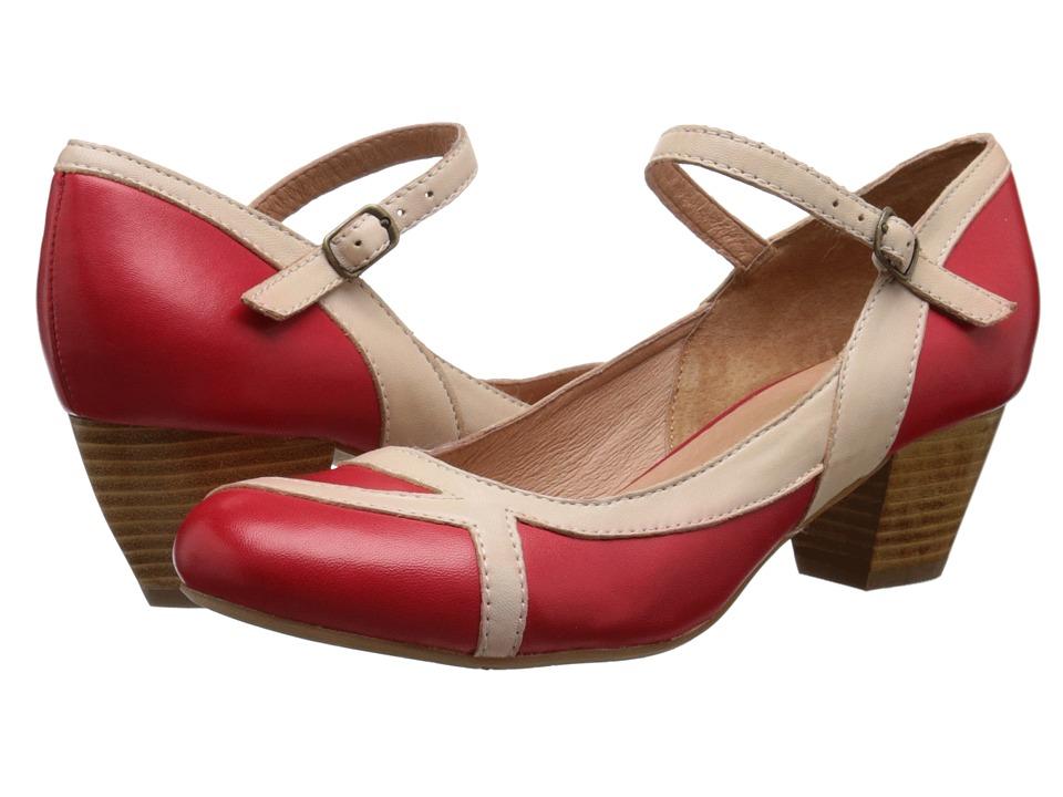 Miz Mooz - Felicie (Red) Women's Dress Flat Shoes
