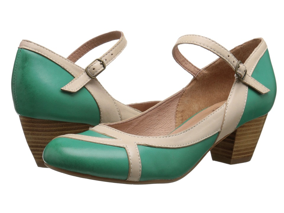 Miz Mooz - Felicie (Green) Women's Dress Flat Shoes