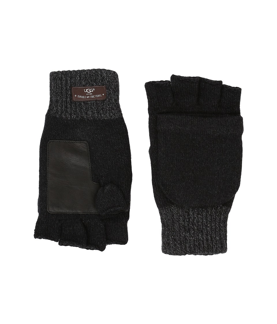 UGG - Marled Flip Mittens (Black Multi) Extreme Cold Weather Gloves