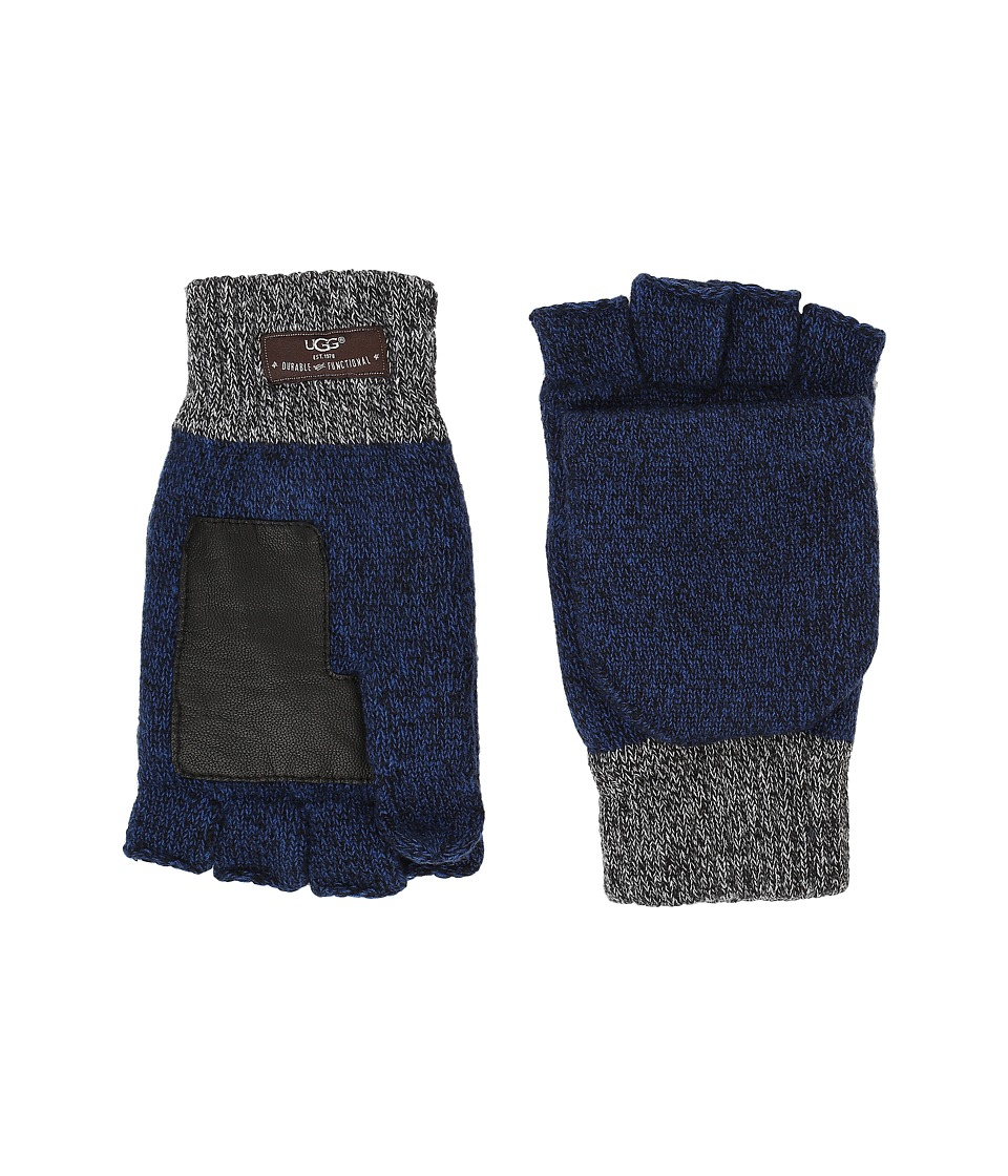 UGG - Marled Flip Mittens (Navy Multi) Extreme Cold Weather Gloves