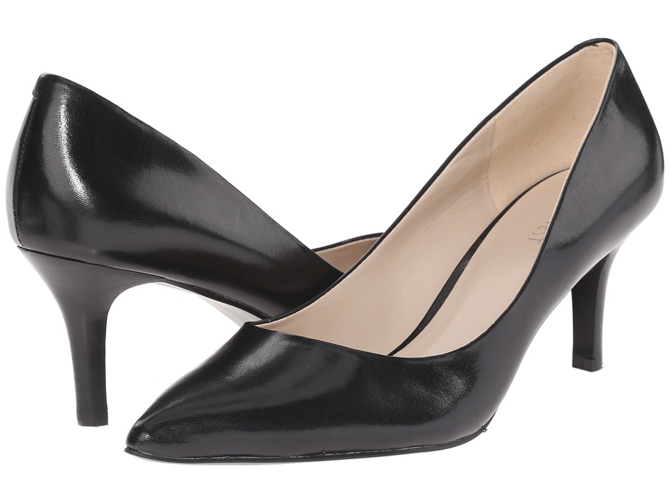 Nine West - Elise (Black Leather) High Heels