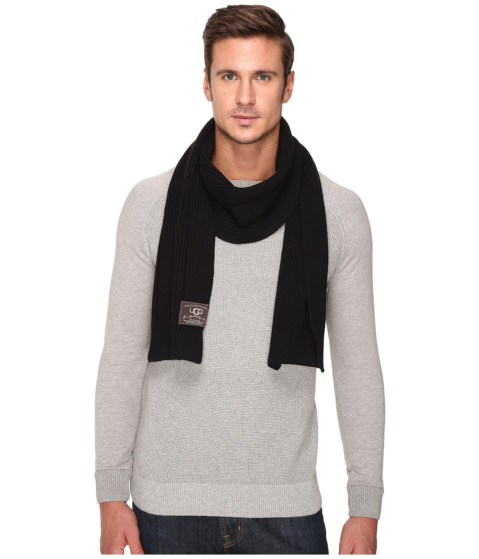 UGG - Ribbed Scarf (Black) Scarves
