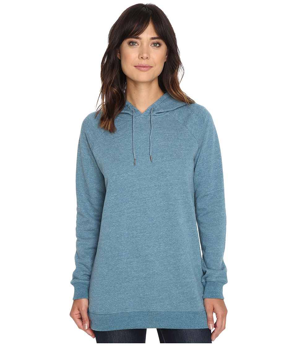 Volcom - Lived In Fleece Pullover Hoodie (Stealth Blue) Women's Sweatshirt