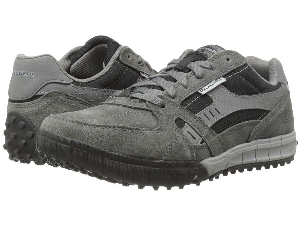 SKECHERS - Relaxed Fit - Floater (Charcoal/Black) Men's Shoes