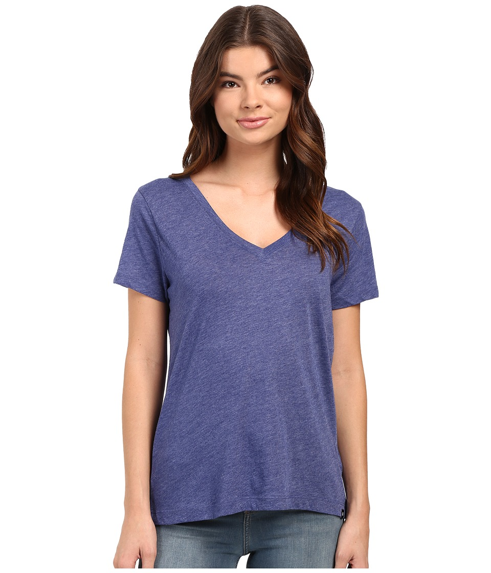 Hurley Staple Perfect V Tee (Heather Loyal Blue) Women