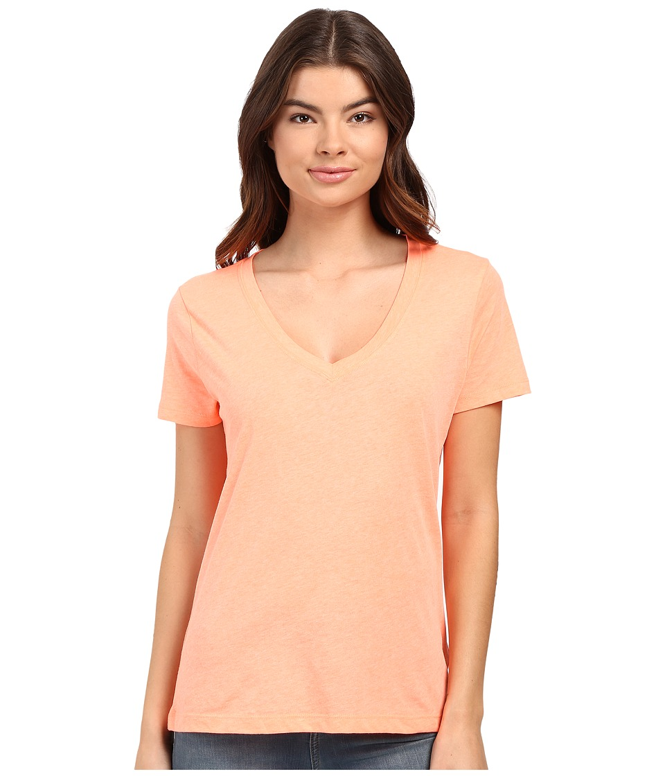 Hurley Staple Perfect V Tee (Heather Atomic Pink) Women