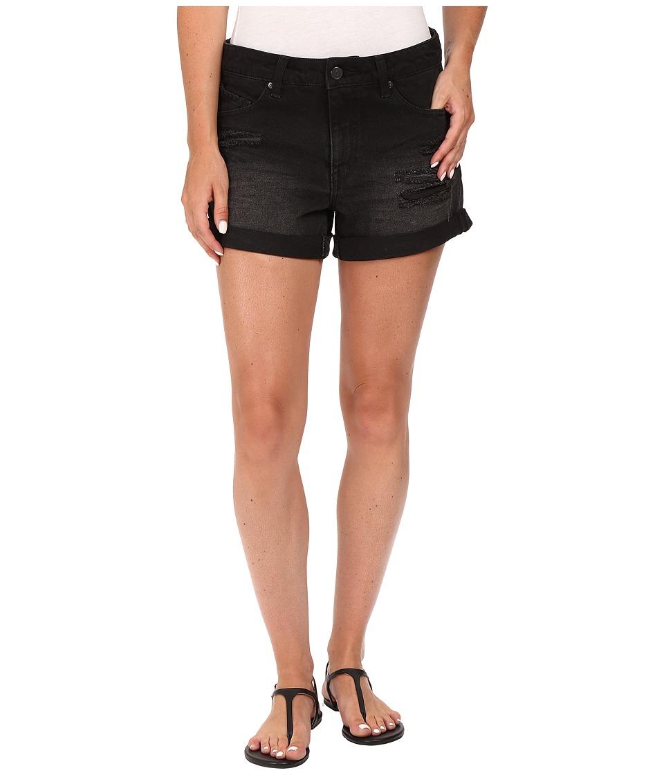 Volcom - Stoned Midi Shorts (Worn Black Wash) Women's Shorts