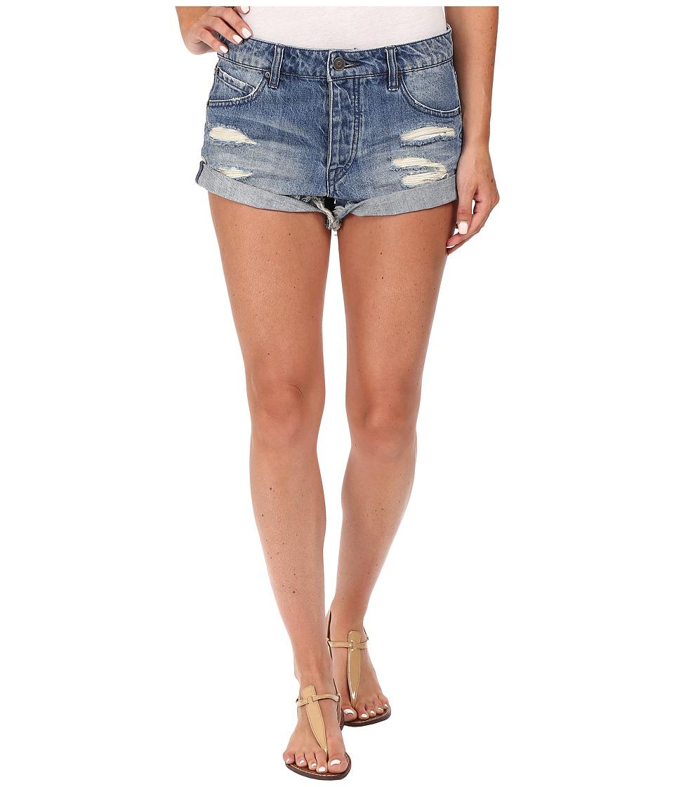 Volcom - Stoned Rolled Shorts (Retro Blue) Women's Shorts