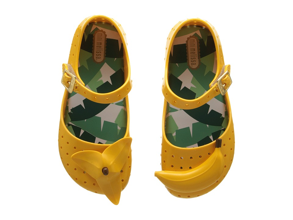 Mini Melissa - Furadinha IX (Toddler) (Yellow) Girl's Shoes