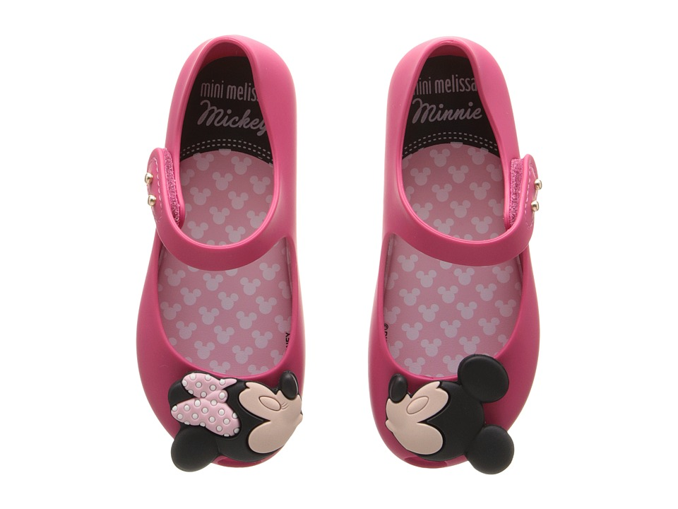 Mini Melissa - Ultragirl + Disney Twins (Toddler) (Fuchsia) Girl's Shoes