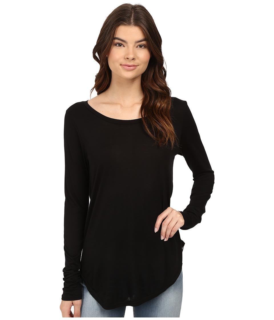 Hurley - Staple Classic Long Sleeve Top (Black) Women's Long Sleeve Pullover