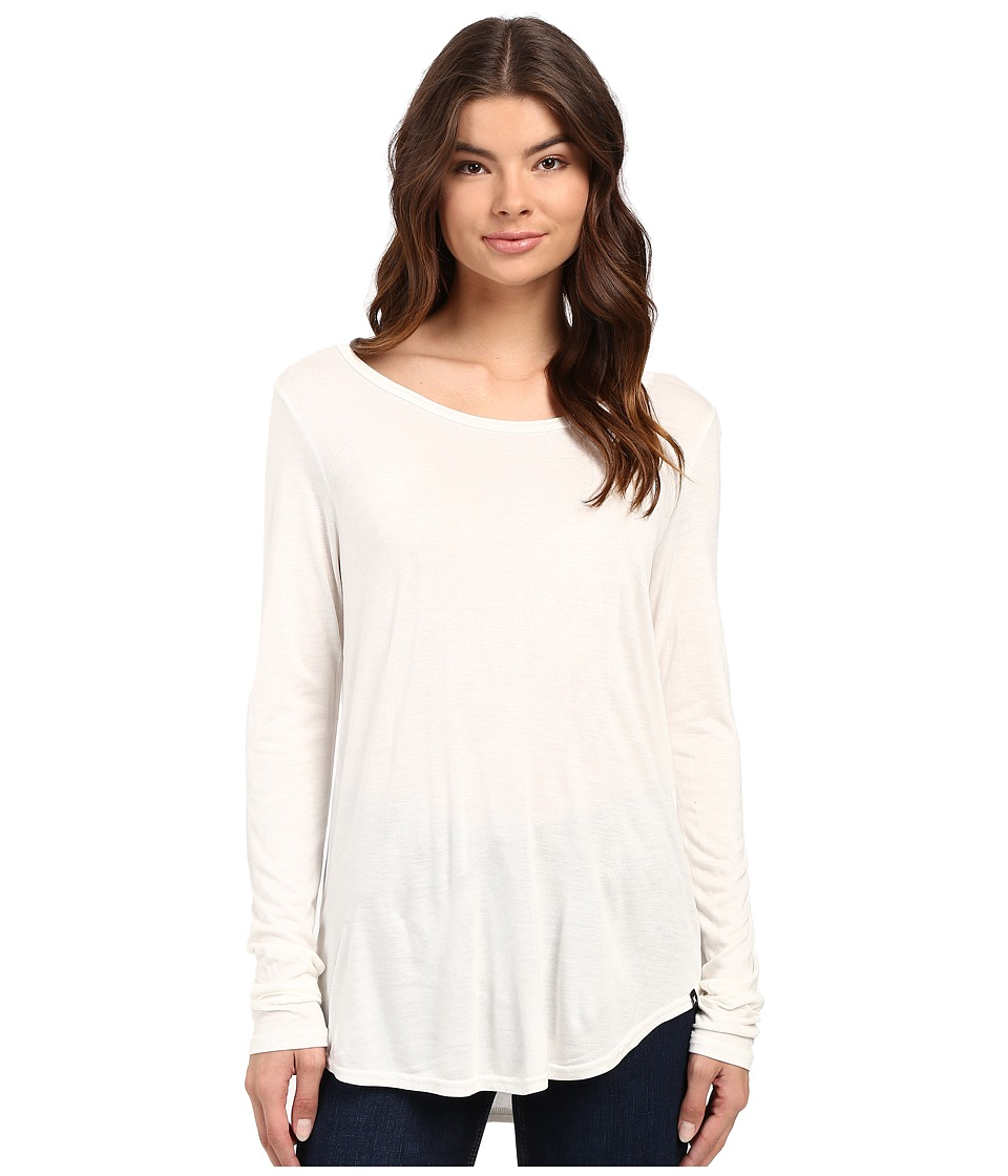 Hurley - Staple Classic Long Sleeve Top (Off White) Women's Long Sleeve Pullover