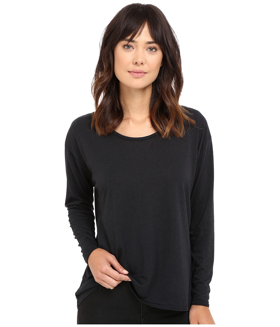 Hurley - Staple Dri-Fit Racer Long Sleeve Top (Black) Women's Long Sleeve Pullover
