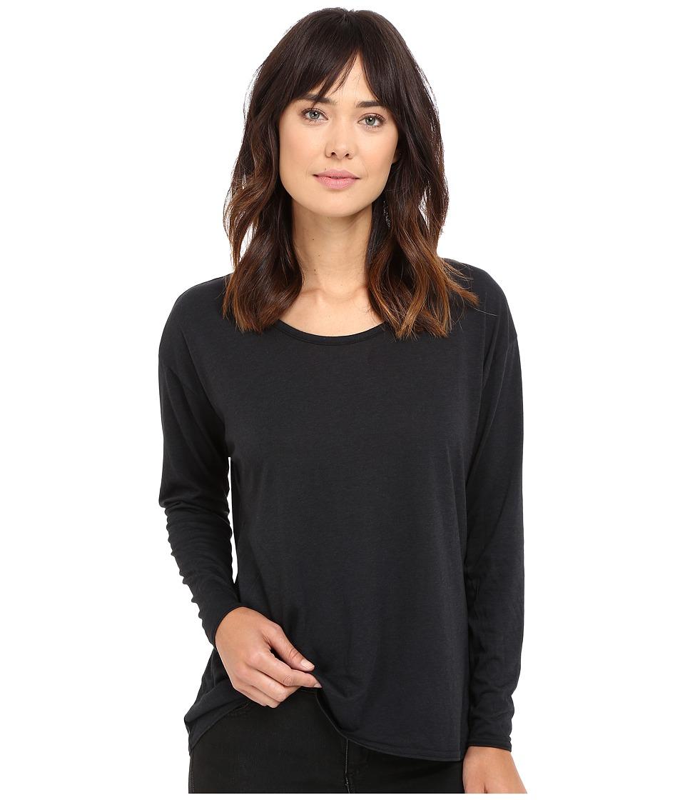 Hurley - Staple Dri-Fit Racer Long Sleeve Top (Black) Women's Long Sleeve Pullover