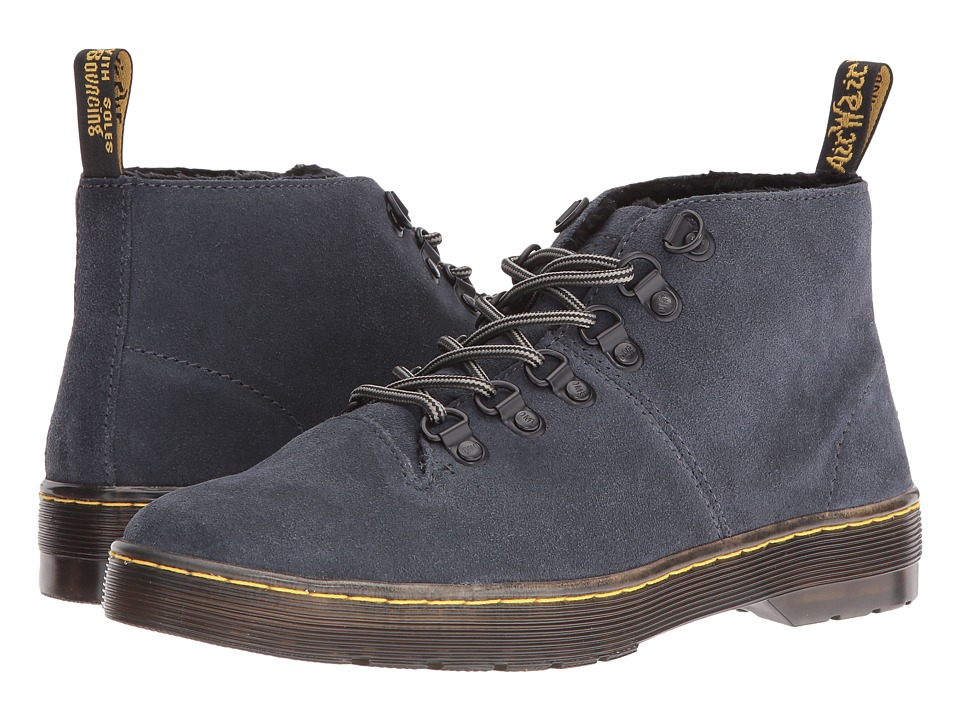 Dr. Martens - Lahava 6-Eye Lined Chukka (Graphite Grey E. H. Suede) Women's Lace-up Boots