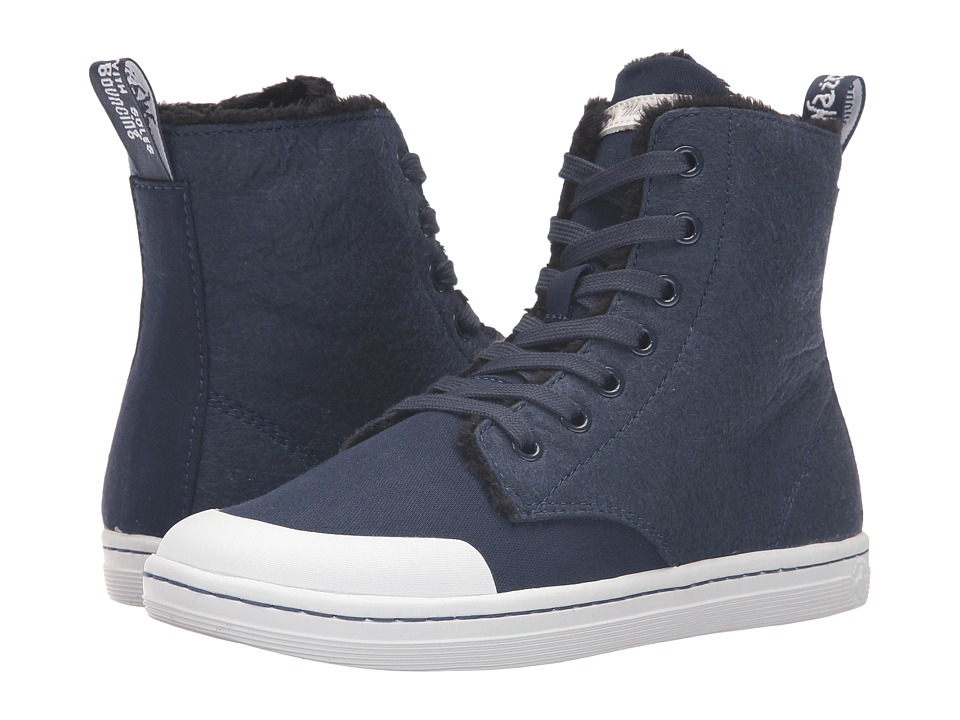 Dr. Martens Hackney II 7-Eye Boot (Navy Fine Canvas) Women