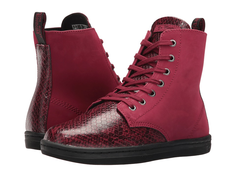 Dr. Martens Leyton 7-Eye Boot (Wine Viper) Women
