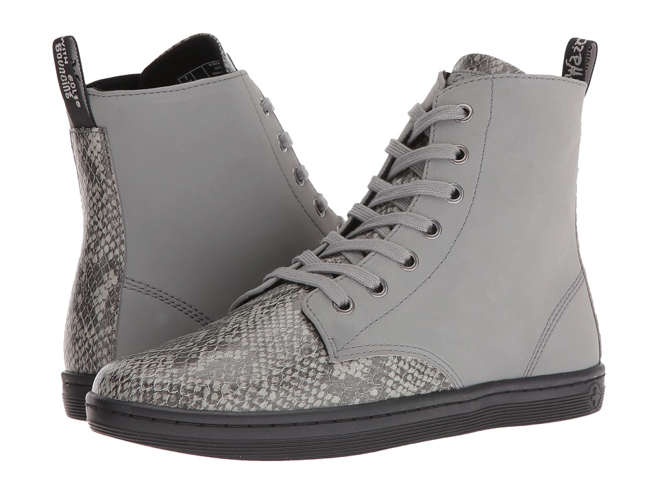 Dr. Martens - Leyton 7-Eye Boot (Light Grey Viper) Women's Lace-up Boots