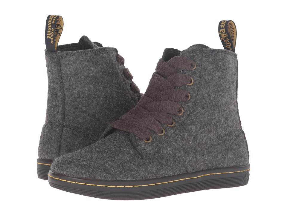 Dr. Martens - Leyton 7-Eye Boot (Grey Poly Felt 3mm) Women's Lace-up Boots