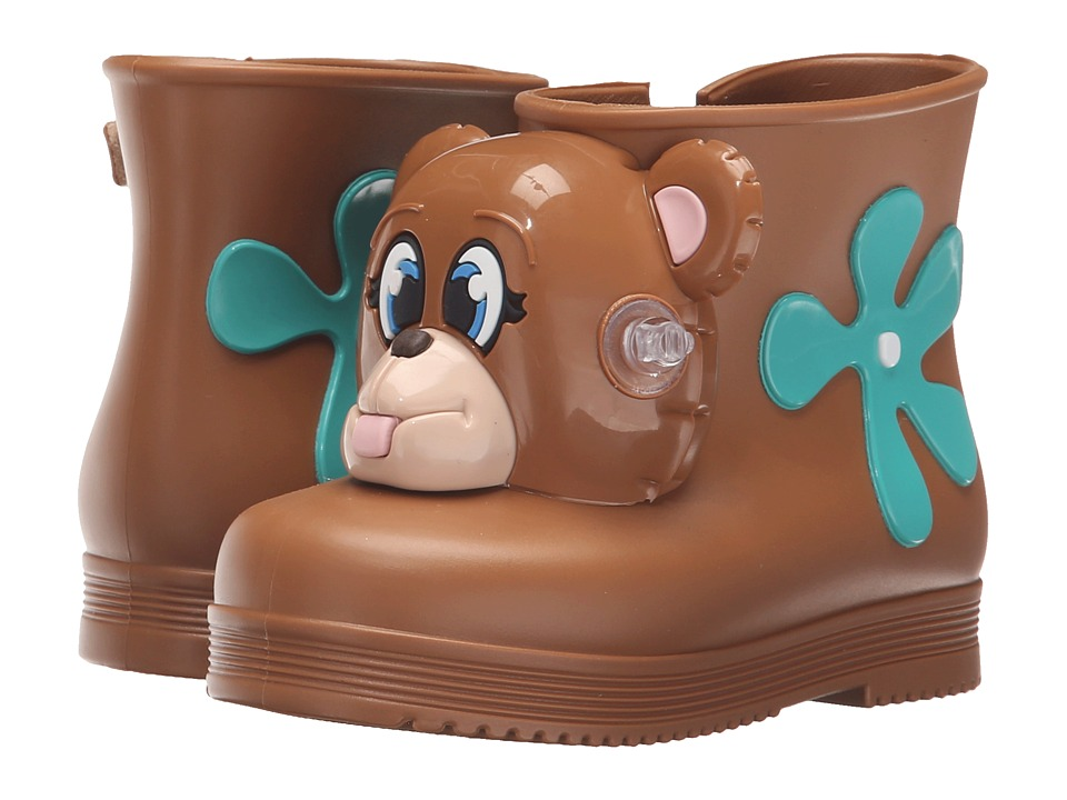 Mini Melissa - Monkey Boot + JS (Toddler) (Brown Bear) Girls Shoes