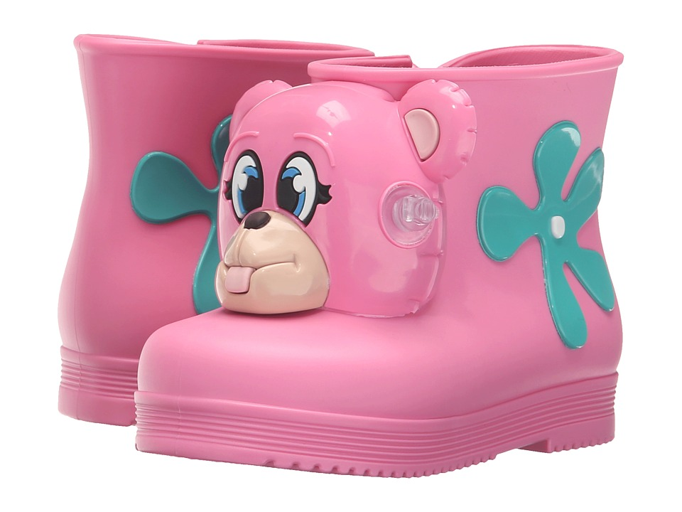 Mini Melissa - Monkey Boot + JS (Toddler) (Pink Bear) Girls Shoes