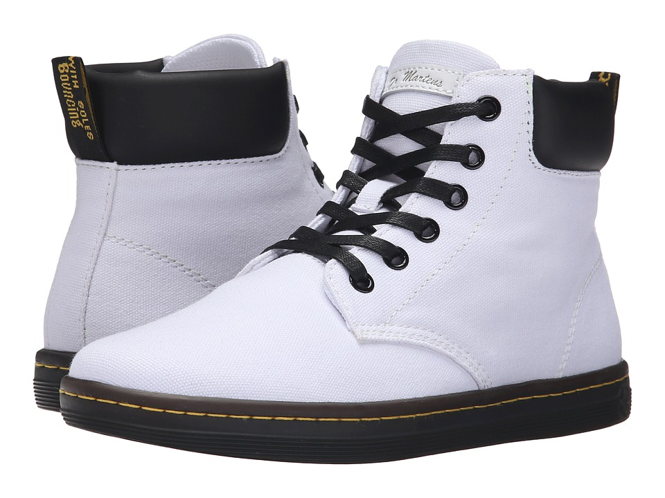 Dr. Martens - Maelly Padded Collar Boot (White T Lamper) Women's Lace-up Boots