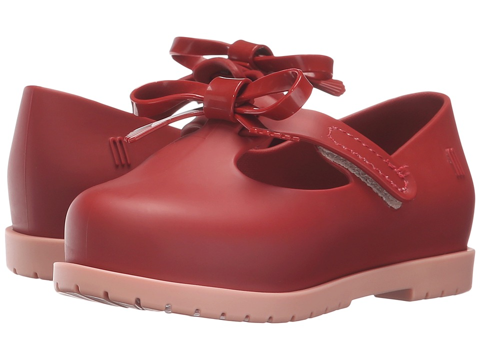 Mini Melissa - Classic Baby (Toddler/Little Kid) (Ruby Red) Girl's Shoes