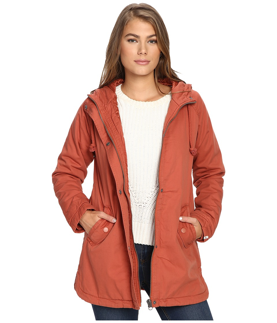 Volcom - Good Side Parka (Auburn) Women's Coat