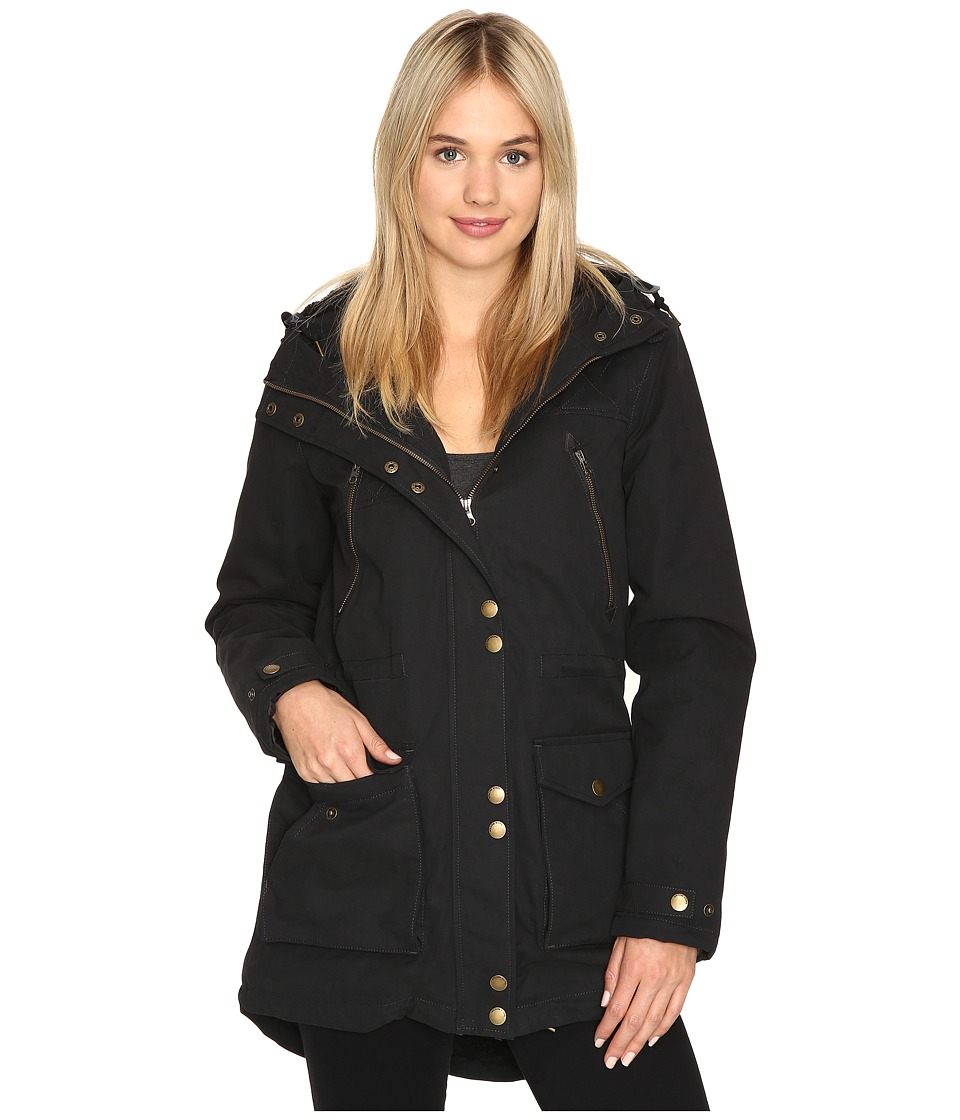 Volcom - Walk On By Parka (Black) Women's Coat