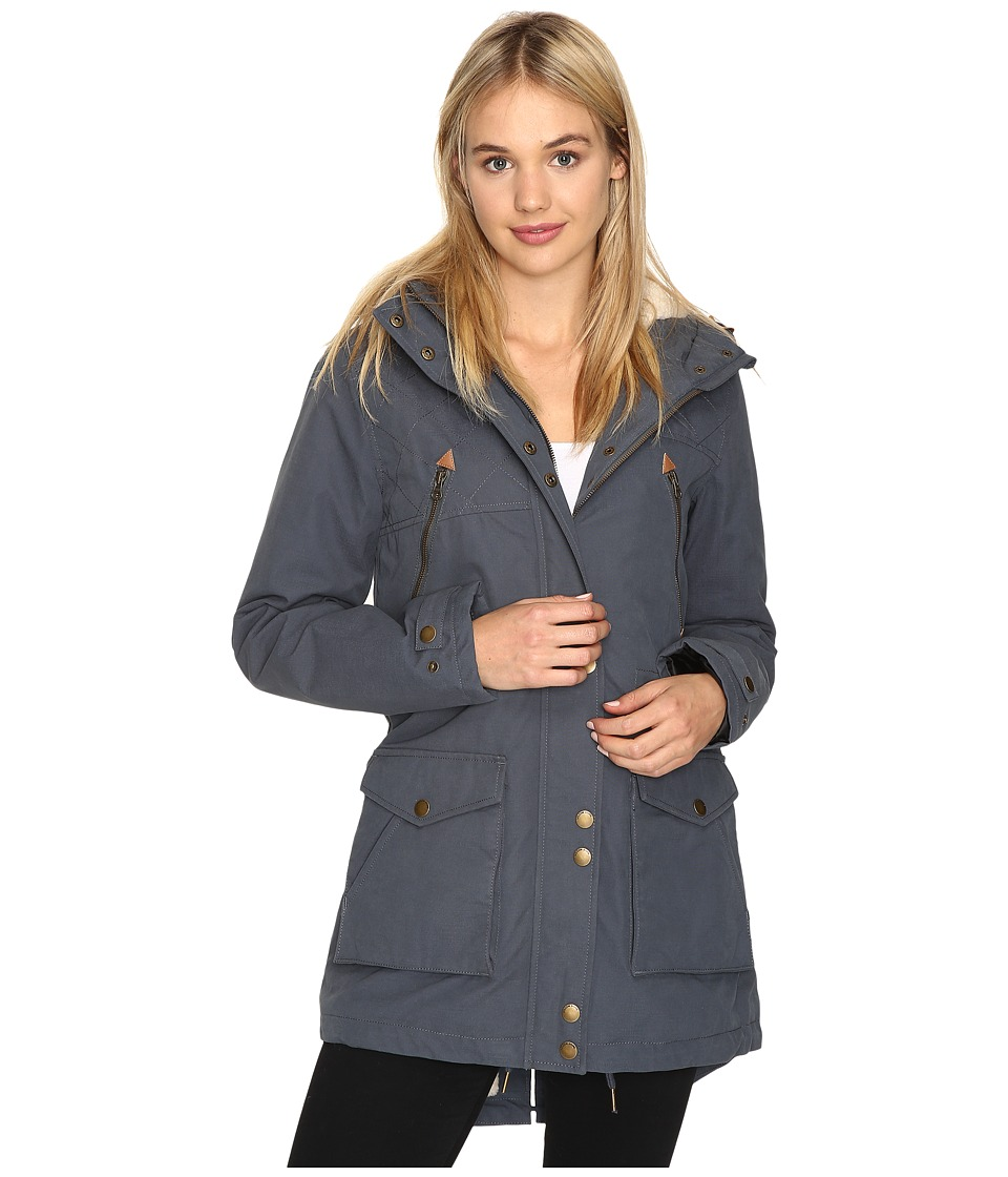 Volcom - Walk On By Parka (Dark Navy) Women's Coat