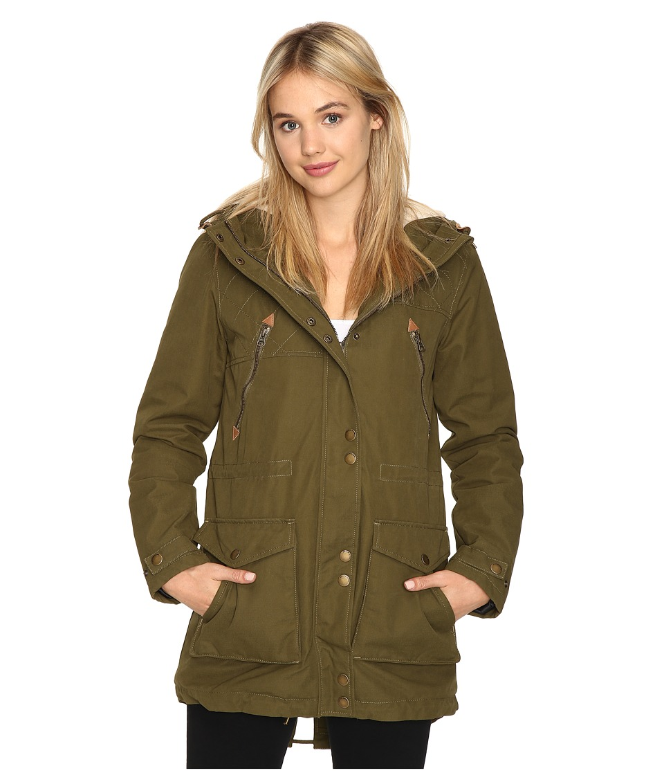 Volcom - Walk On By Parka (Lentil Green) Women's Coat