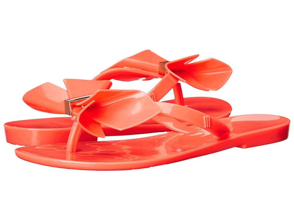 Mini Melissa - Mel Harmonic II (Little Kid) (Neon Orange) Girl's Shoes