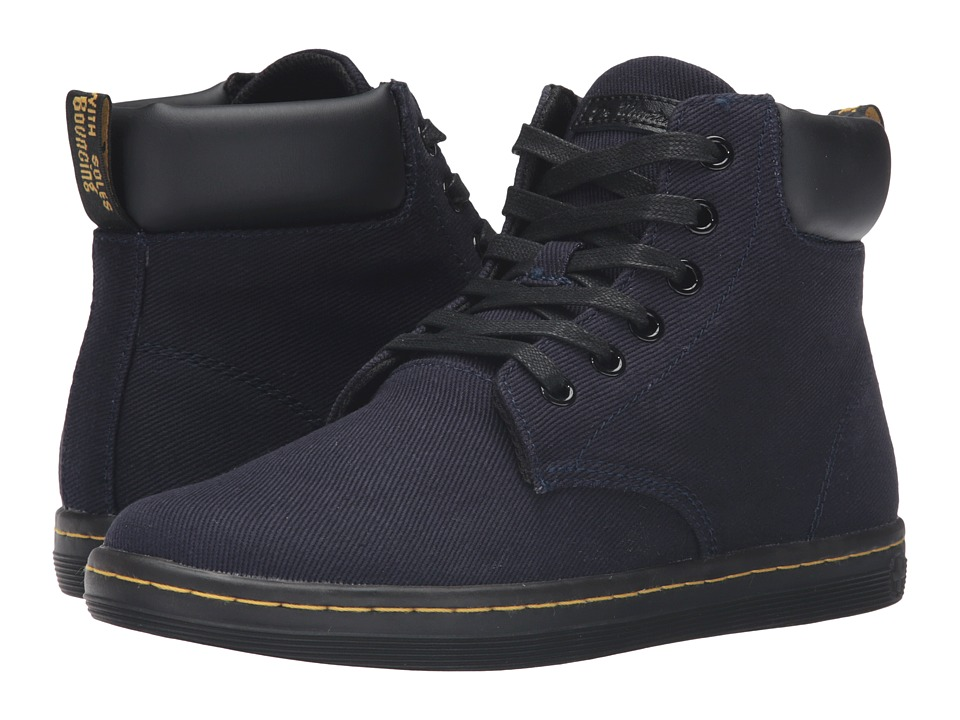 Dr. Martens - Maelly Padded Collar Boot (Navy Overdyed Twill Canvas) Women's Lace-up Boots