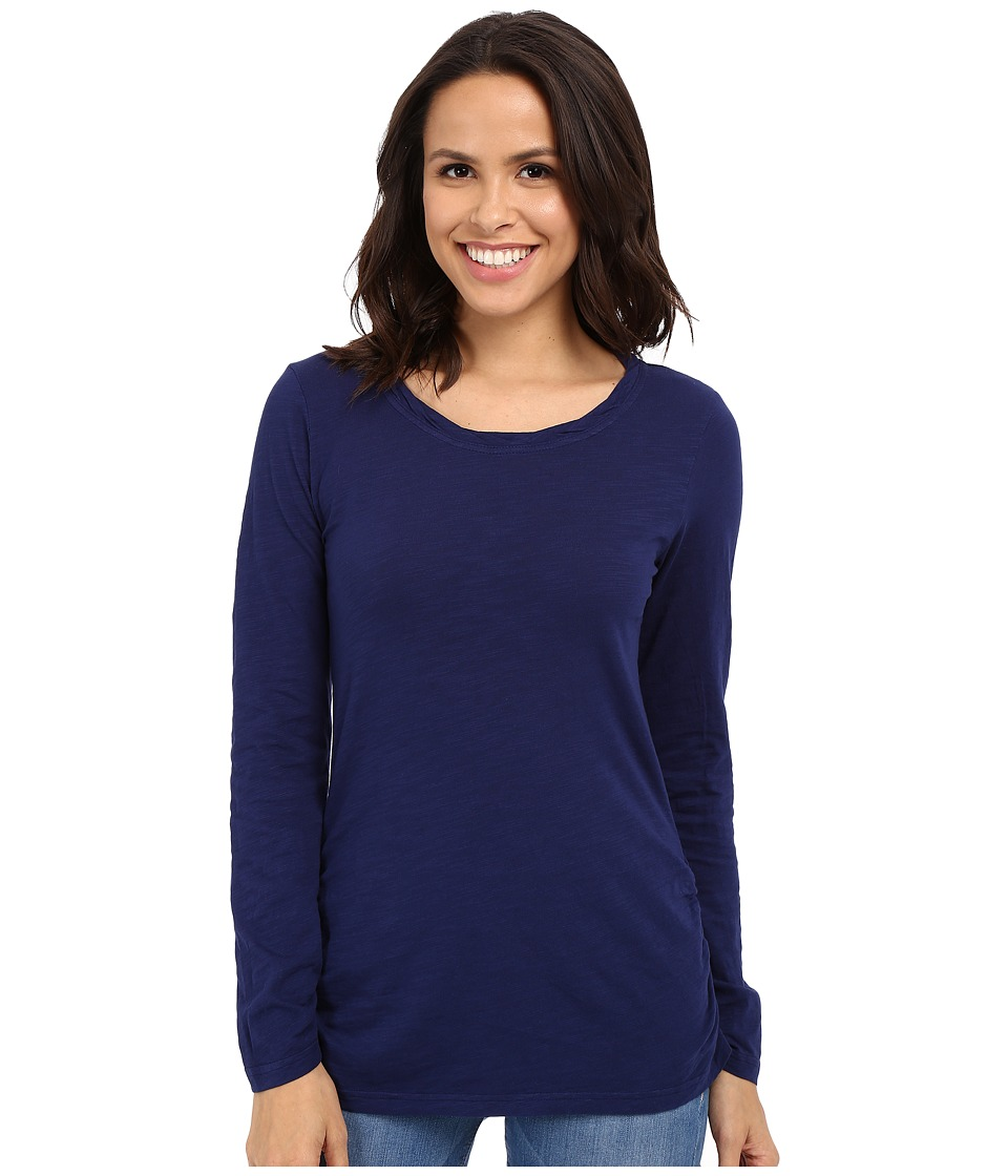 Mod-o-doc - Slub Jersey Long Sleeve Twisted Scoop Neck Tee (Inkwell) Women's Long Sleeve Pullover