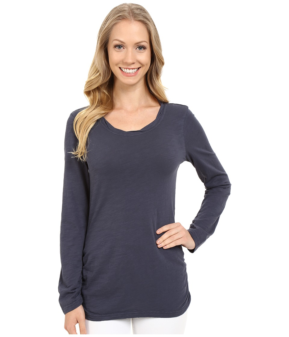 Mod-o-doc - Slub Jersey Long Sleeve Twisted Scoop Neck Tee (Gibraltar) Women's Long Sleeve Pullover