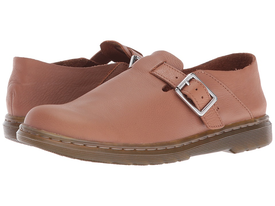 Dr. Martens - Patricia II Buckle Shoe (Tan Virginia) Women's Shoes