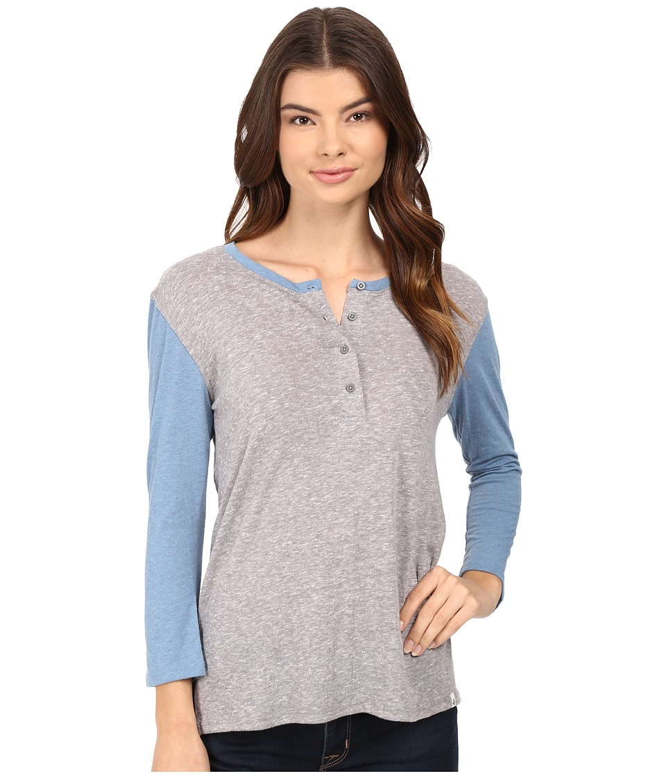 Volcom - Down Tha Block Henley Top (Heather Grey) Women's Long Sleeve Pullover