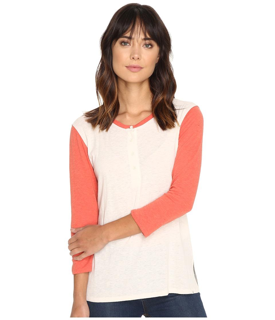 Volcom - Down Tha Block Henley Top (Heather Grey) Women's Long Sleeve Pullover