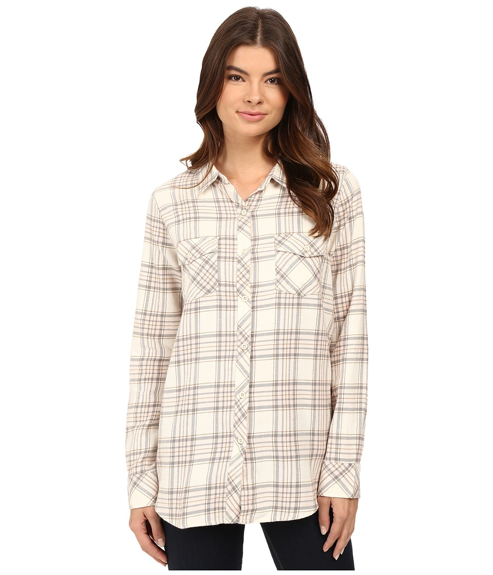 Volcom - Cozy Day Long Sleeve Top (Vintage White) Women's Long Sleeve Button Up