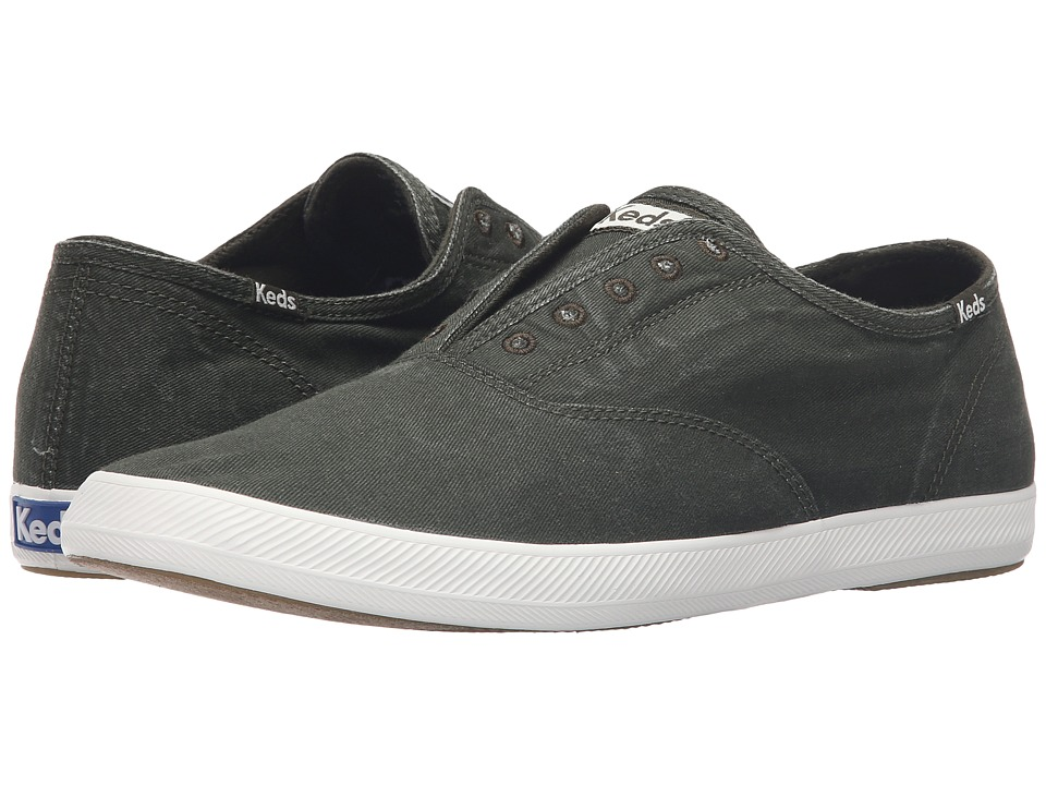 Keds Champion Chillax Washed Twill (Dark Green) Men