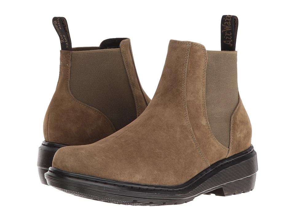 Dr. Martens - Pamela Chelsea Boot (Grenade Green Soft Buck) Women's Boots