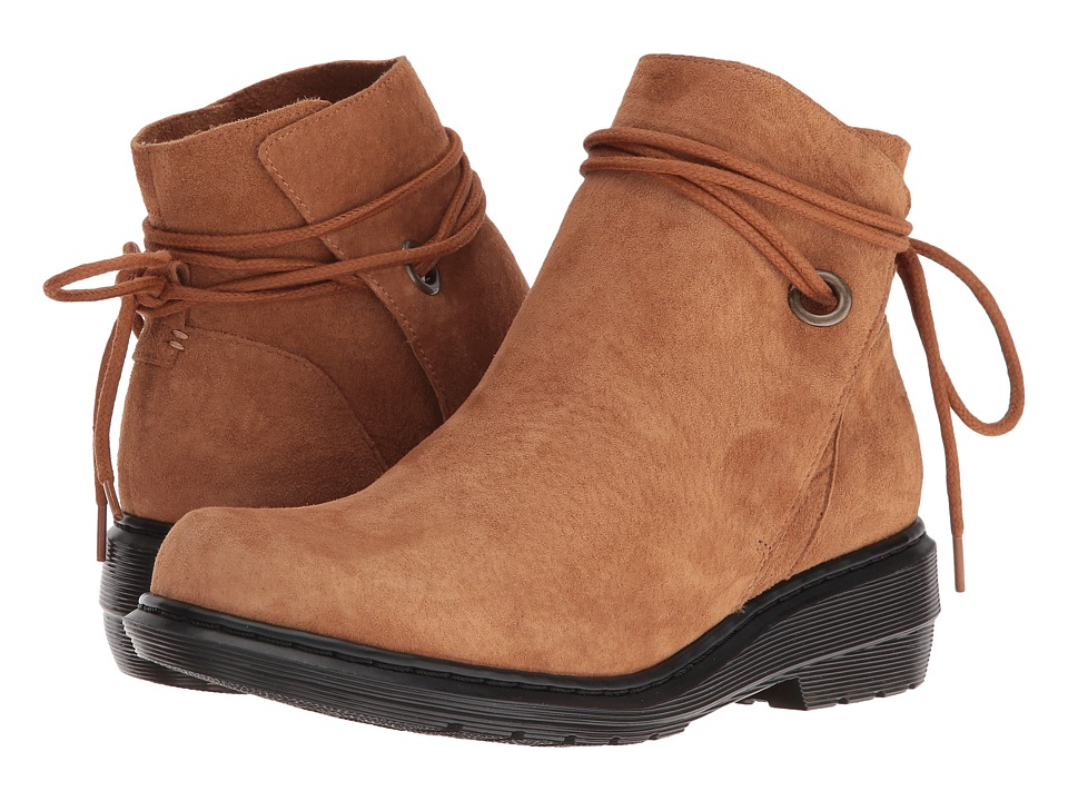 Dr. Martens - Shelby Hi Tie Boot (Tan Soft Buck) Women's Pull-on Boots
