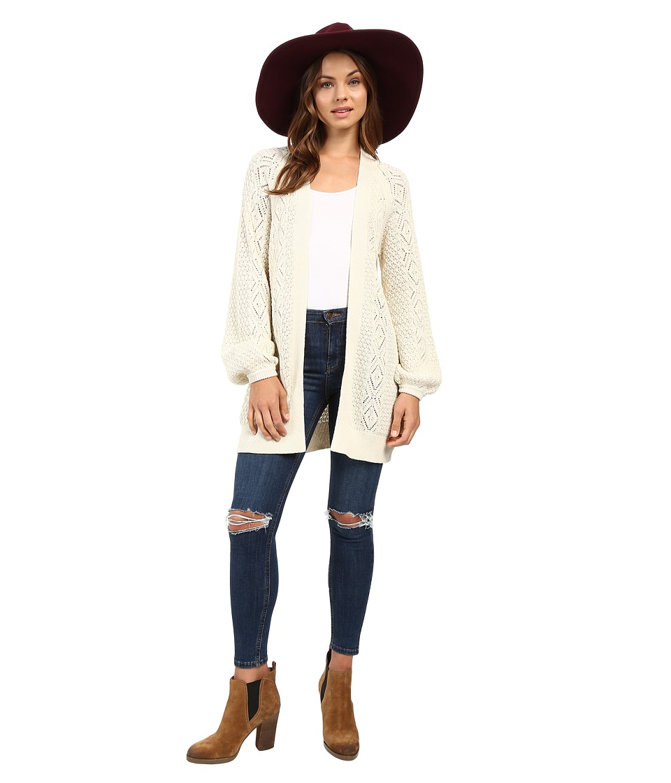 Volcom - Cruz Control Cardigan Sweater (Vintage White) Women's Sweater