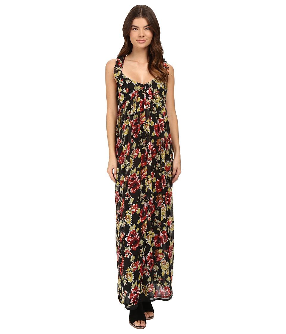 Volcom - Ruffle Feather Dress (Black) Women's Dress