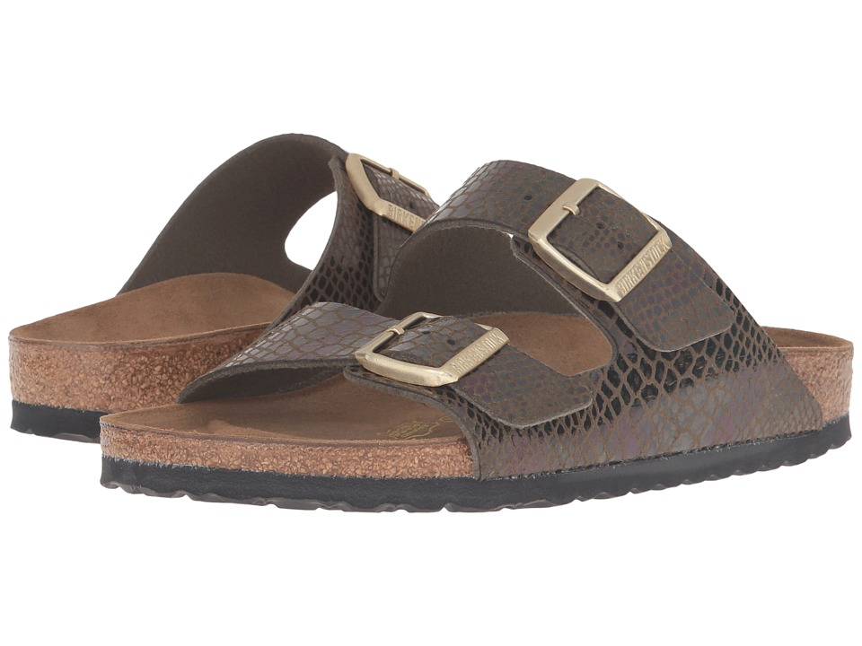 Birkenstock - Arizona (Shiny Snake Olive) Women's Sandals