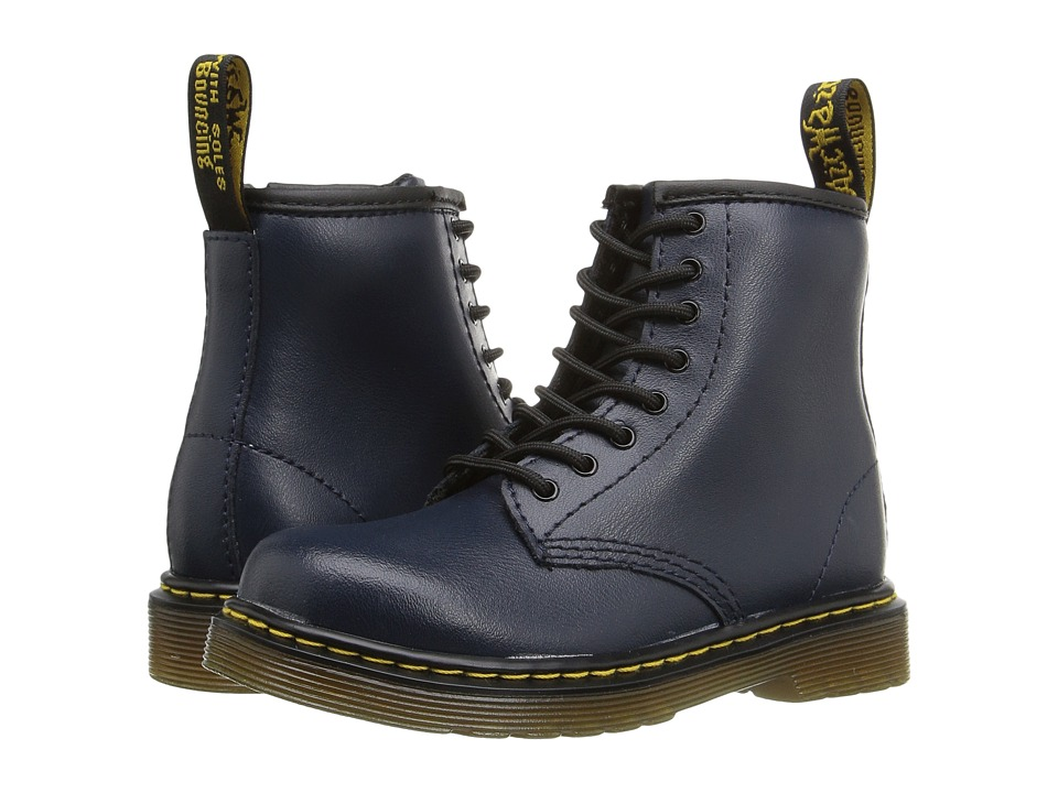 Dr. Martens Kid's Collection - Brooklee 8-Eye Boot (Toddler) (Navy) Kids Shoes