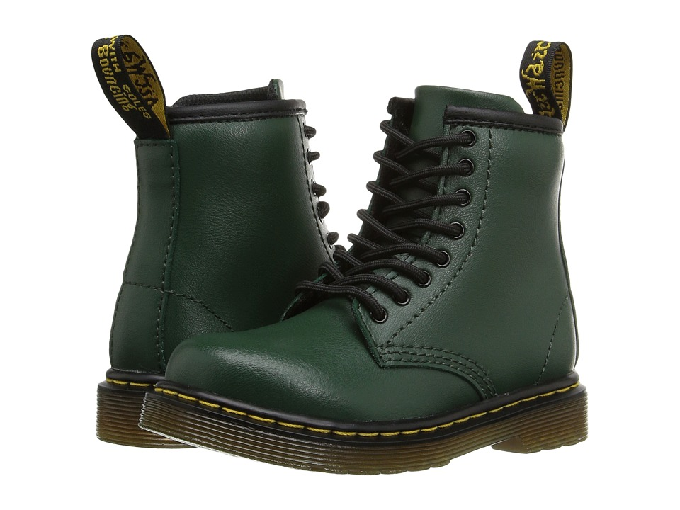 Dr. Martens Kid's Collection - Brooklee 8-Eye Boot (Toddler) (Green) Kids Shoes