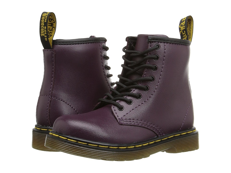 Dr. Martens Kid's Collection - Brooklee 8-Eye Boot (Toddler) (Purple) Kids Shoes