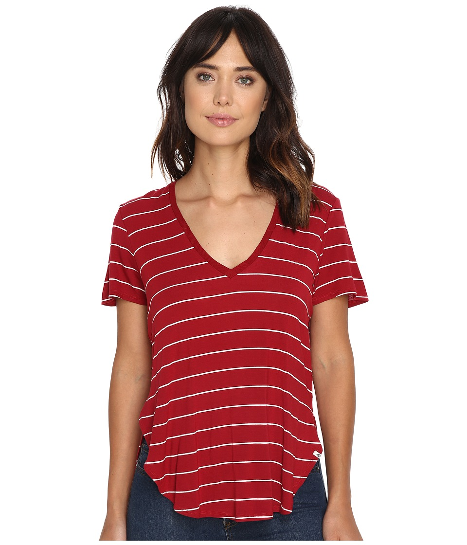 Volcom - Dark Crystal Tee (Rad Red) Women's T Shirt