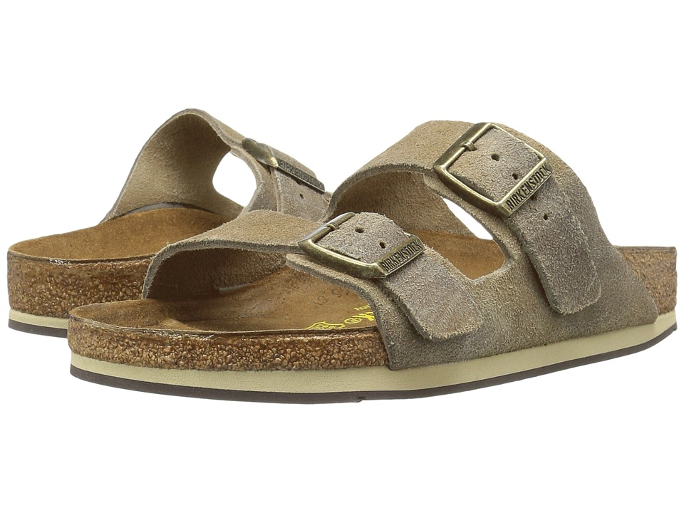 Birkenstock - Arizona Sport (Taupe Waxed Suede) Sandals